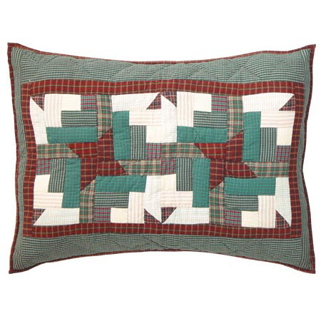 "Cranberry Pinwheel Pillow Sham 27""W x 21""L"
