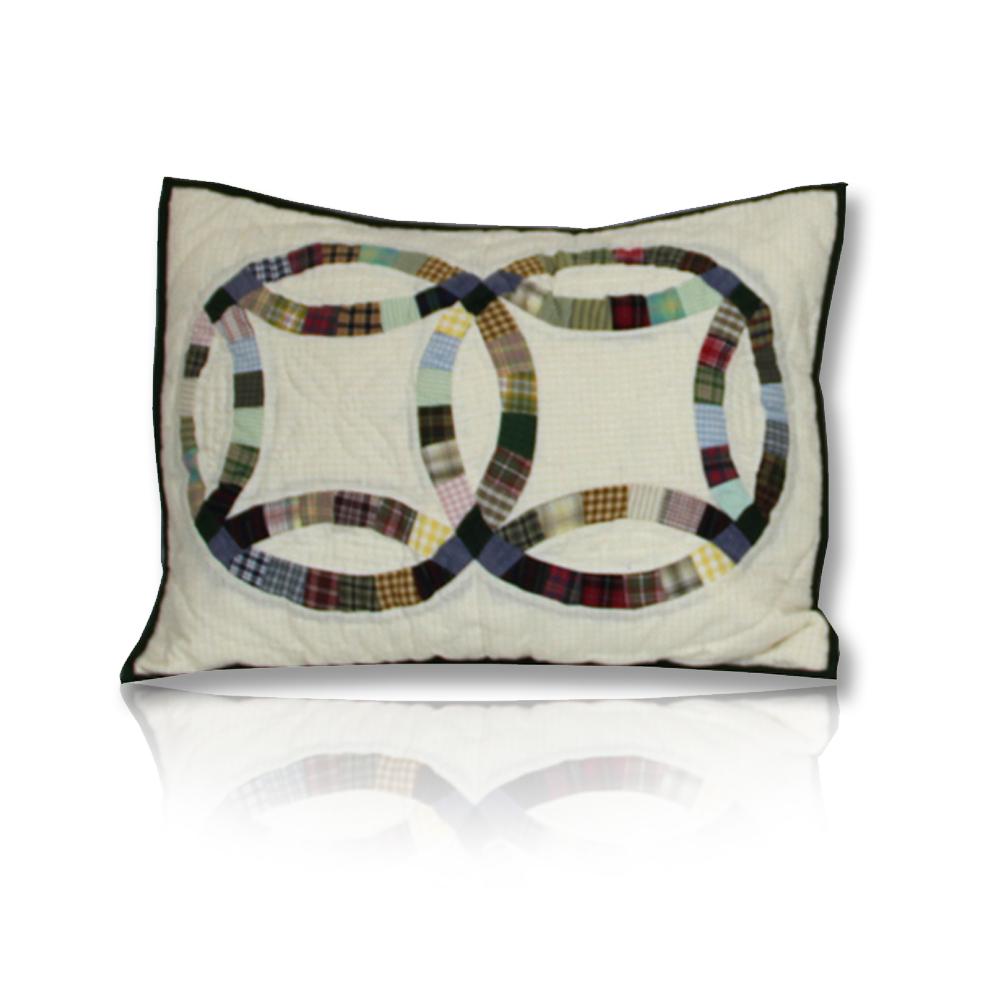 "Country Wedding Ring Pillow Sham 27""W x 21""L"