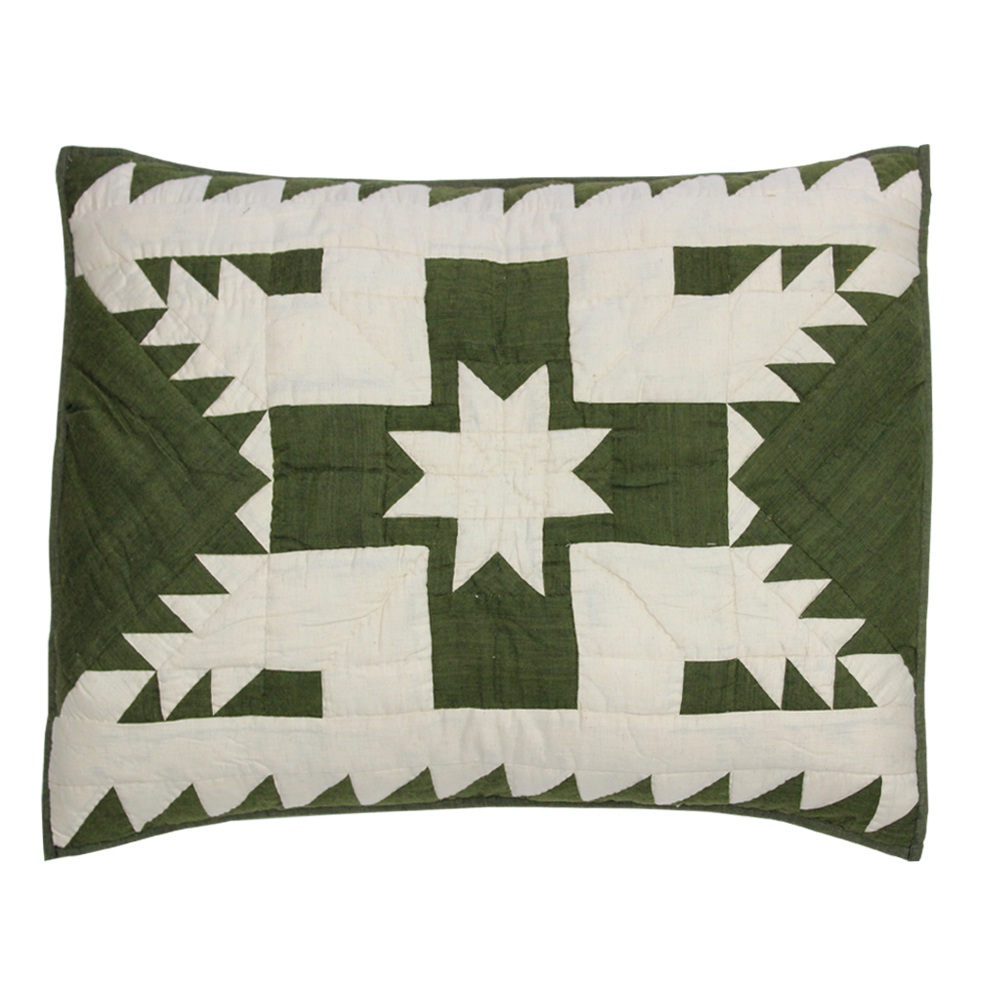 "Emerald Feathered Star Pillow Sham 27""W x 21""L"