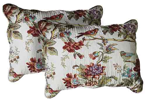"Finch Orchard Pillow Sham Set(2 Pieces) 27""W x 21""L"