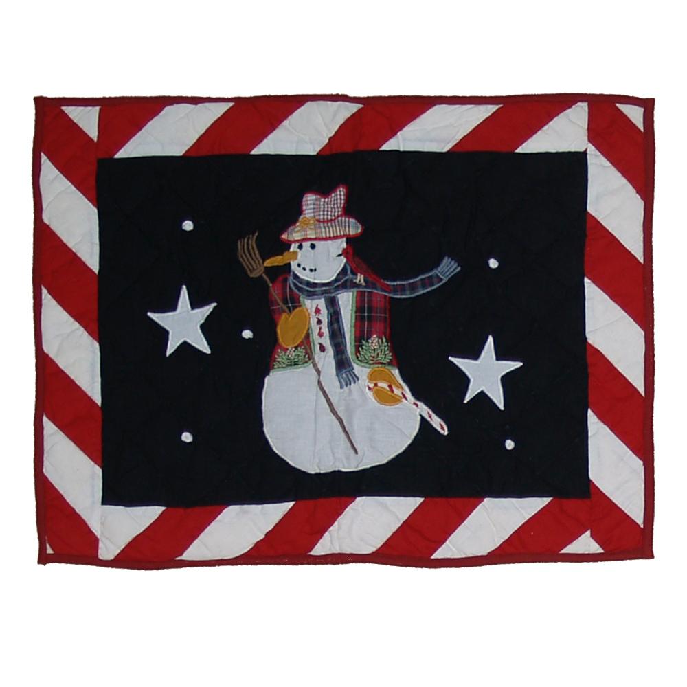 "Frosty Snowman Pillow Sham 27""W x 21""L"