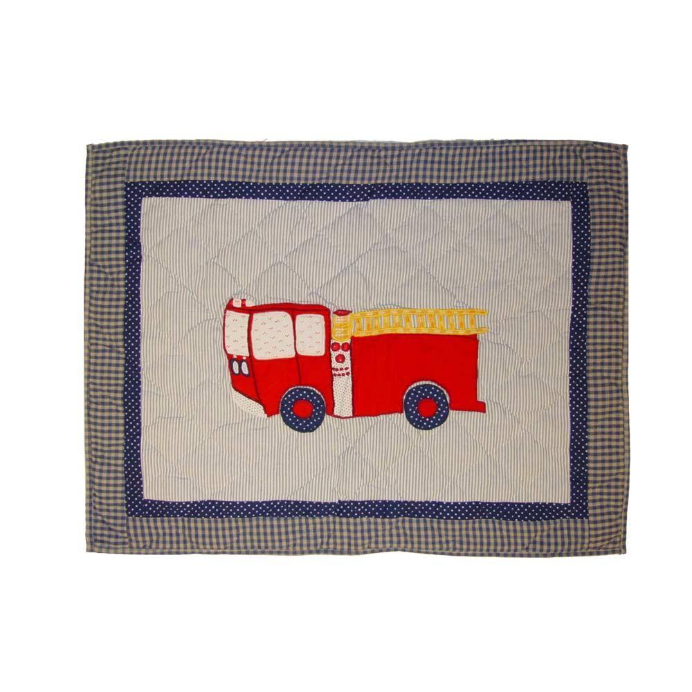"Fire Truck Pillow Sham 27""W x 21""L"