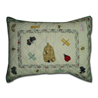 "Garden Friends Pillow Sham 27""W x 21""L"