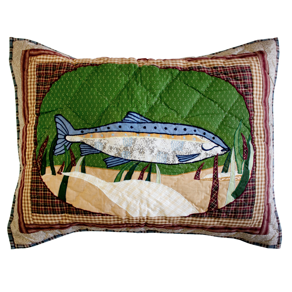 "Gone Fishing Pillow Sham 27""W x 21""L"