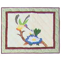"Hummingbird Garden Pillow Sham 27""W x 21""L"