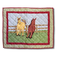 "Horse Pillow Sham 27""W x 21""L"