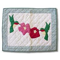 """Hummingbird Pillow Sham 27""""W x 21""""L"""