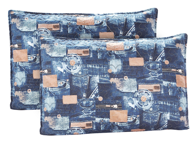 Scrap Jeans Pillow Shams set-2 pcs