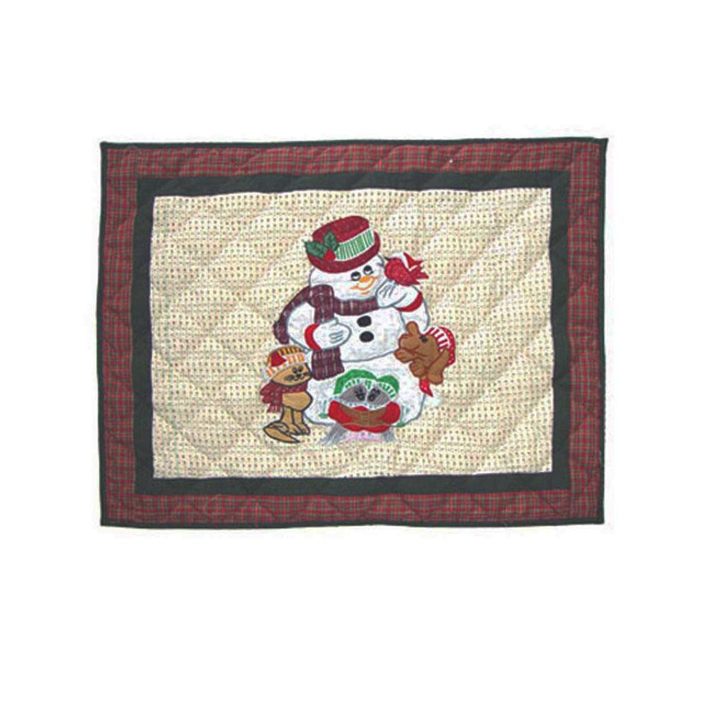 "Jolly Snowmen Pillow Sham 27""W x 21""L"