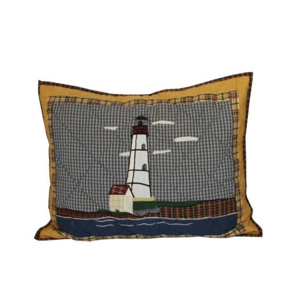 "Lighthouse by the Bay Pillow Sham 27""W x 21""L"