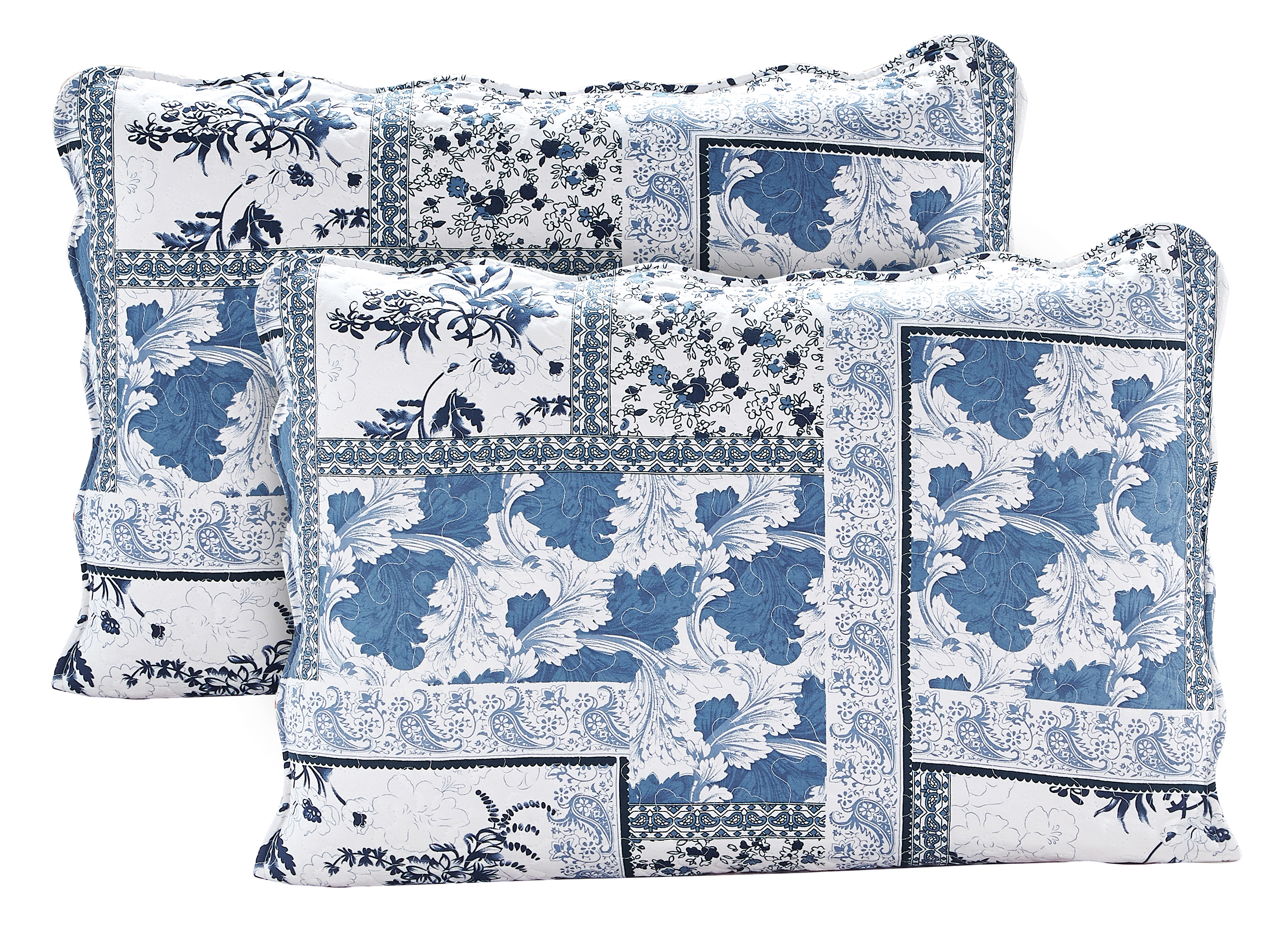 Faience Blues Pillow Shams set-2 pcs