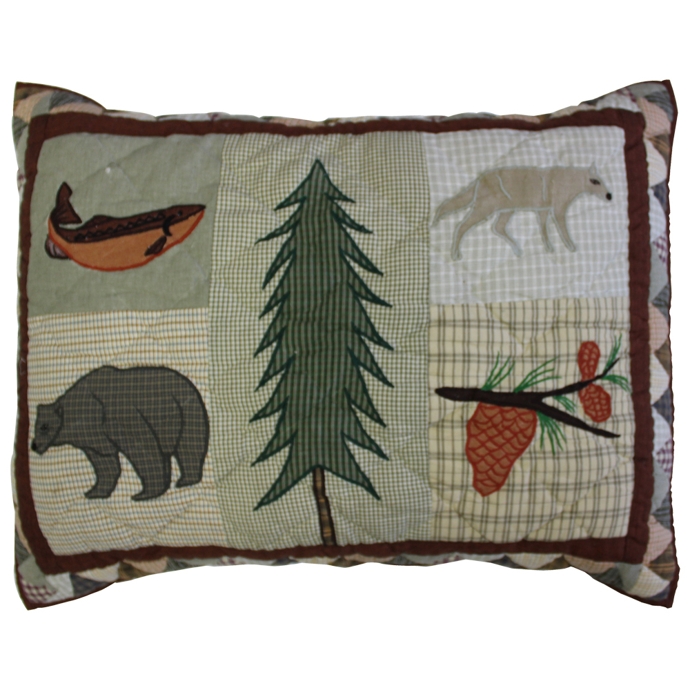 "Mountain Whispers Pillow Sham 27""W x 21""L"