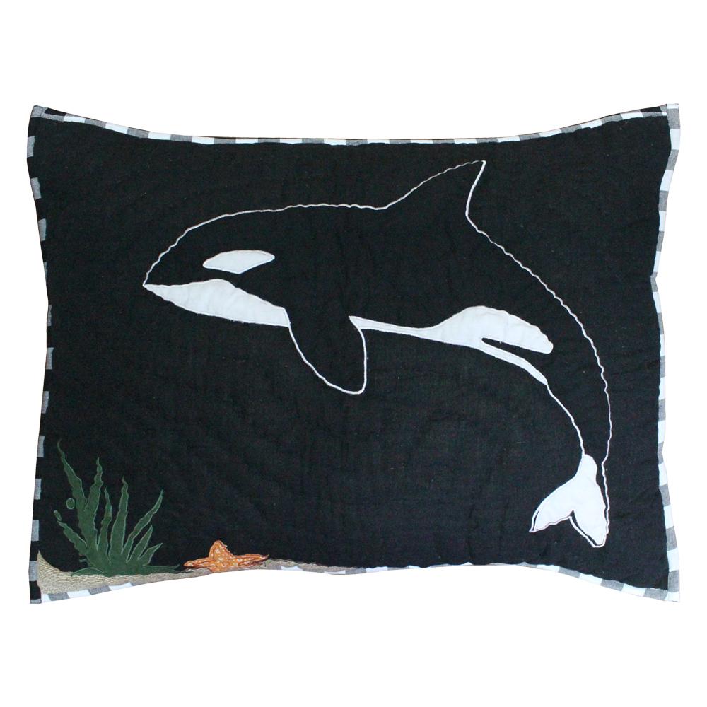 """Orca Pillow Sham 27""""W x 21""""L"""