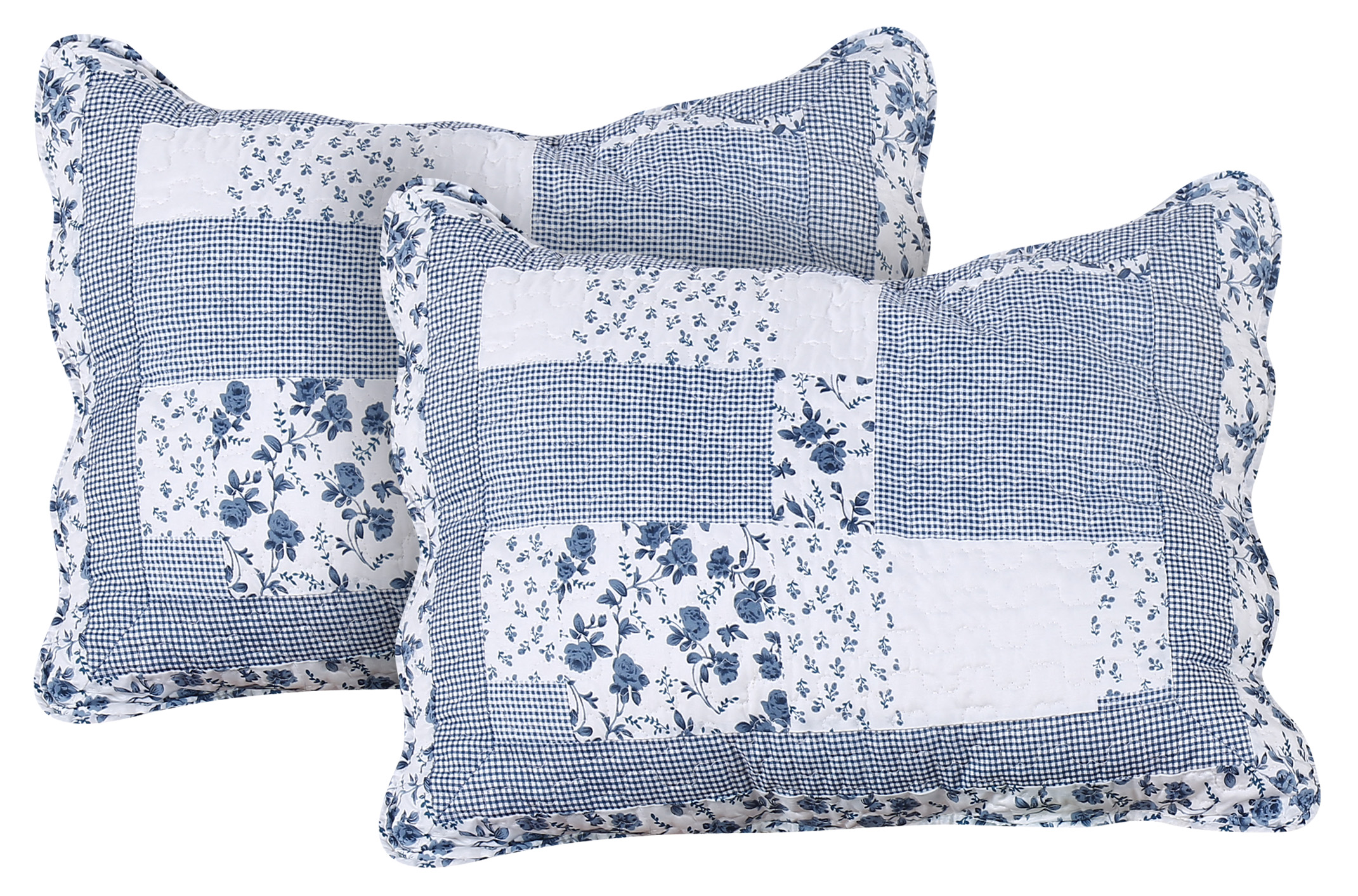 "Periwinkle Dash Pillow Sham Set(2 Pieces) 27""W x 21""L"