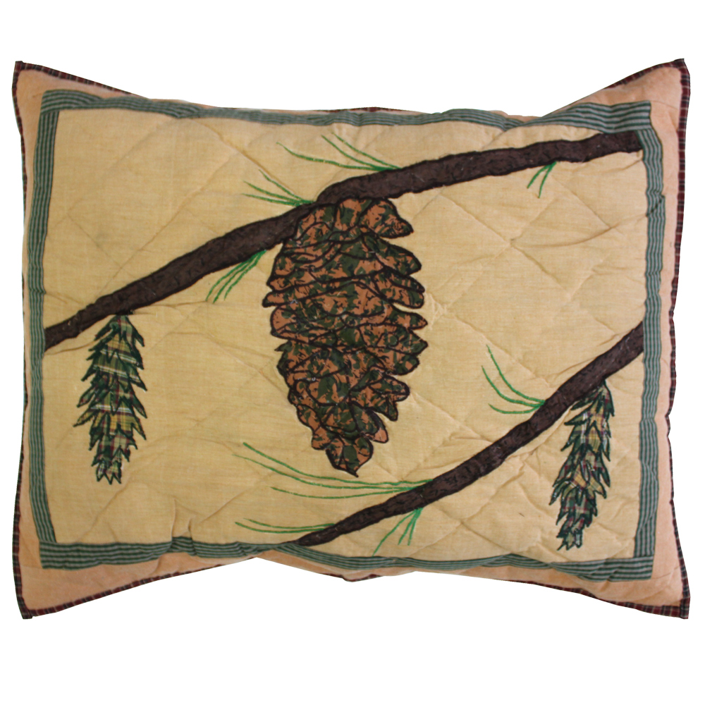"""Pinecone Pillow Sham 27""""W x 21""""L"""