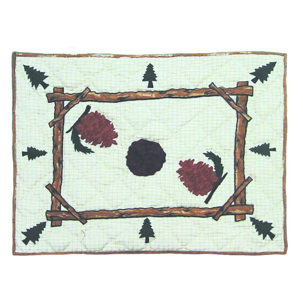 "Pinewood Pillow Sham 27""W x 21""L"