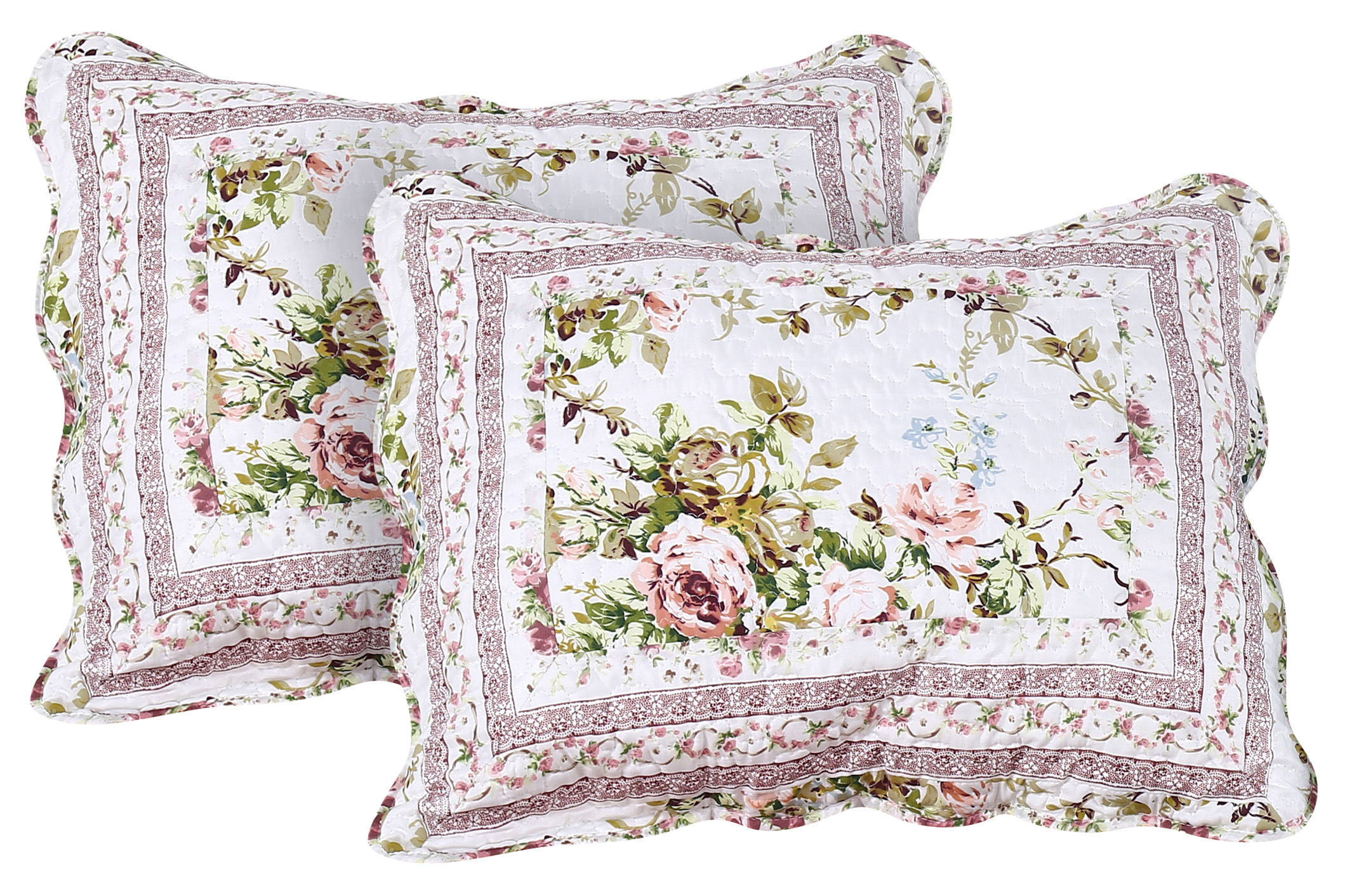 "Primrose Garden Pillow Sham Set(2 Pieces) 27""W x 21""L"