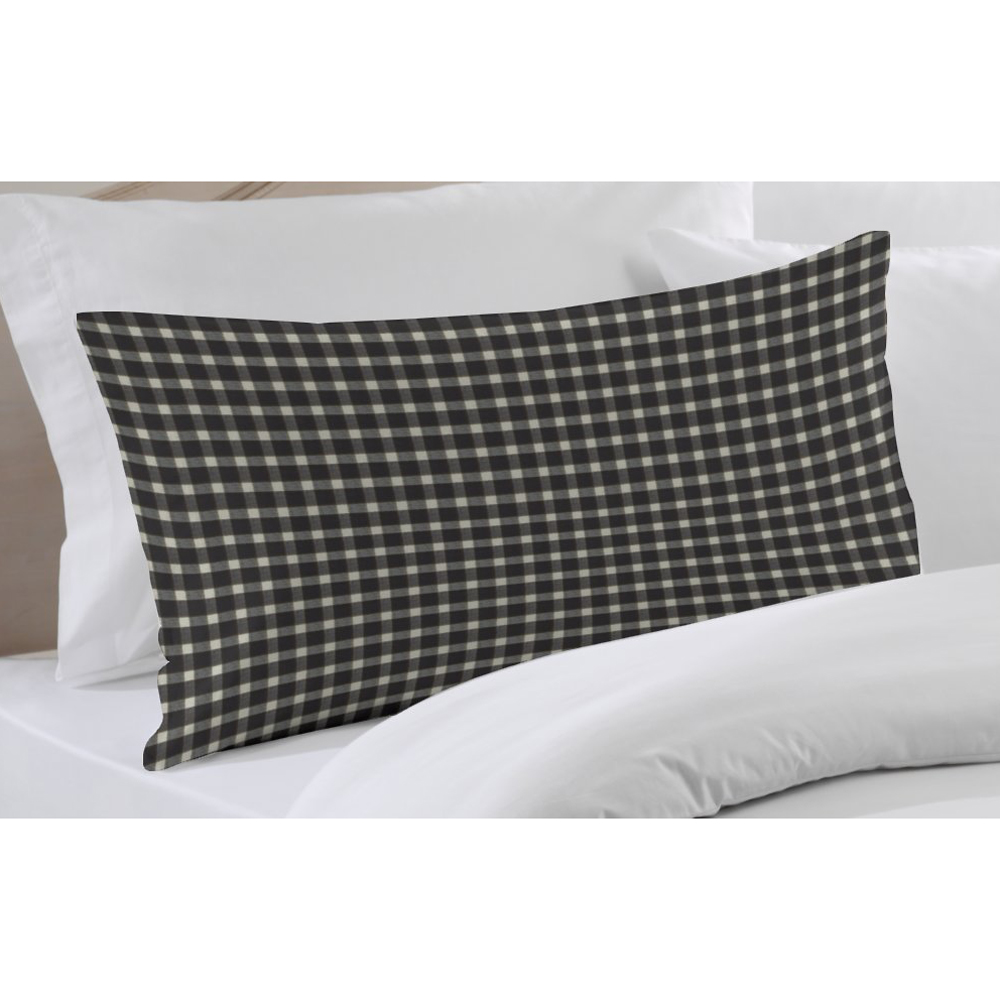 "Black and White Buffalo Check Pillow Sham 27""W x 21""L"