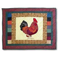 "Rooster Pillow Sham 27""W x 21""L"