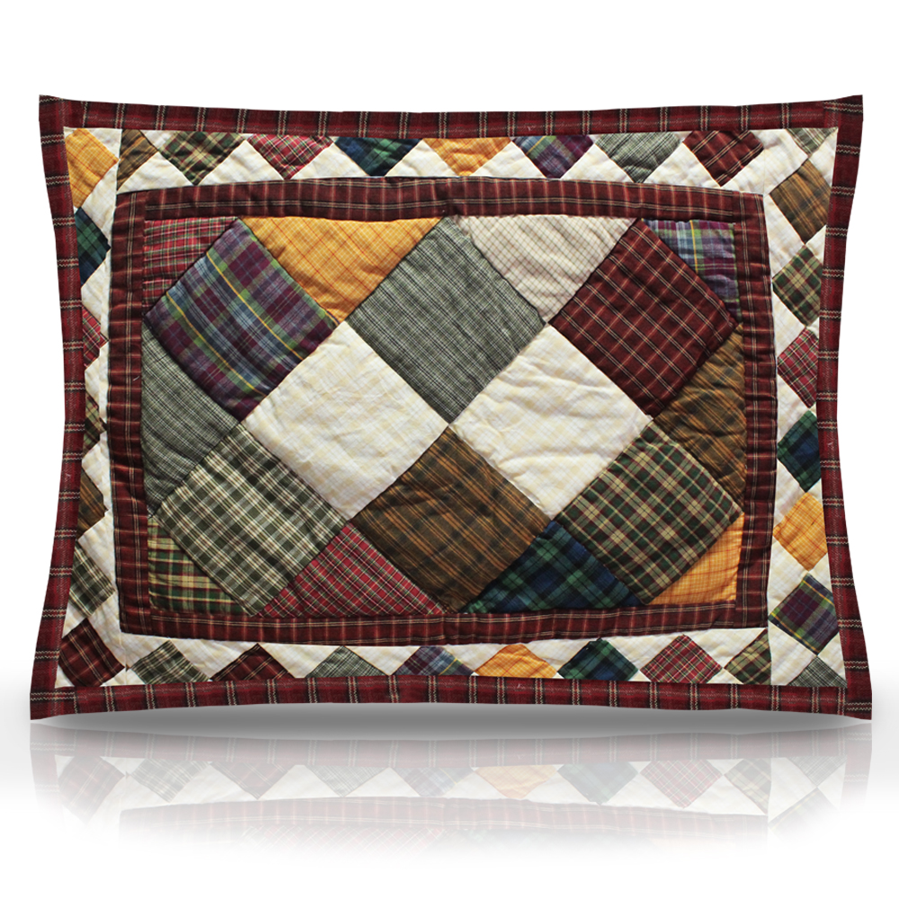 """Rustic Cabin Pillow Sham 27""""W x 21""""L"""