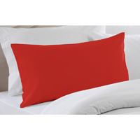 "Bright Red Solid Pillow Sham 27""W x 21""L"