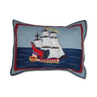 "Ships Ahoy Pillow Sham 27""W x 21""L"