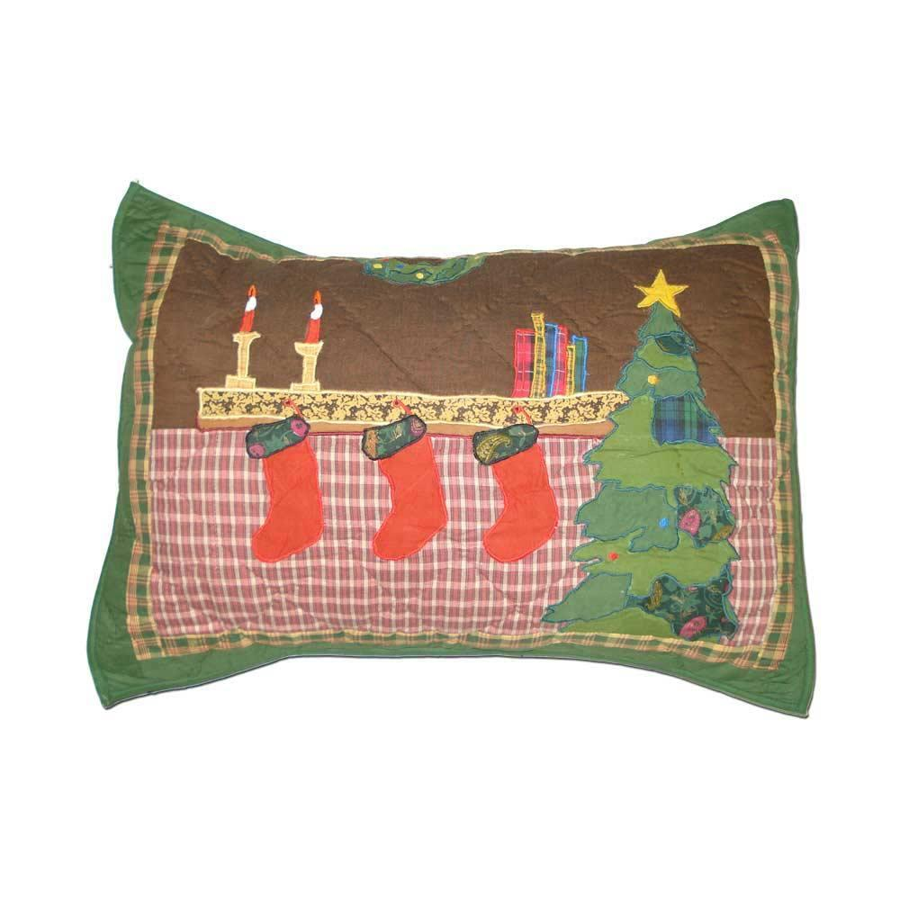 "Santa by the Fireside Pillow Sham 27""W x 21""L"