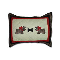 "Scottie Pillow Sham 27""W x 21""L"
