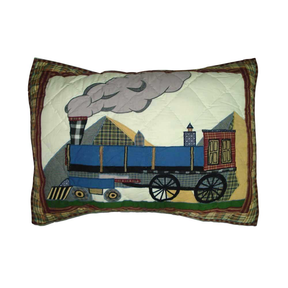 "Train Pillow Sham 27""W x 21""L"