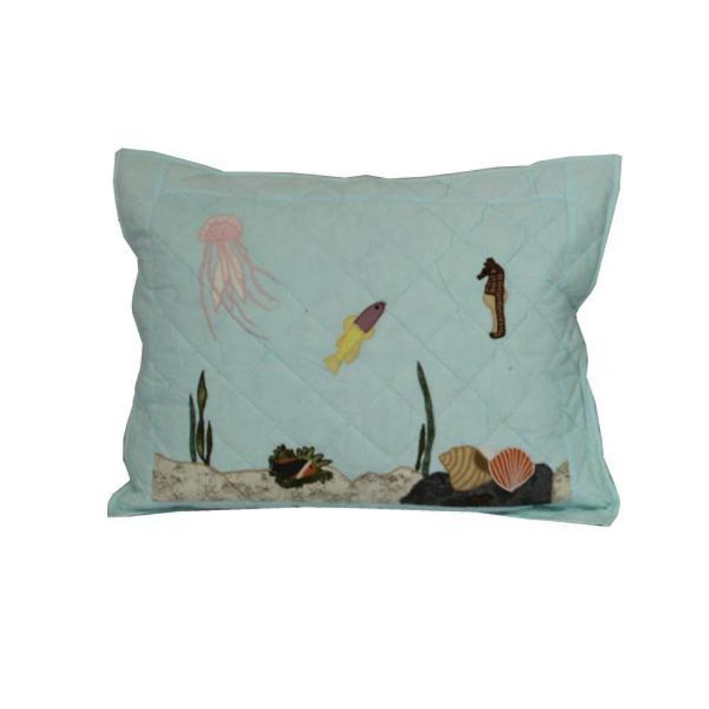 """Underwater Haven Pillow Sham 27""""W x 21""""L"""