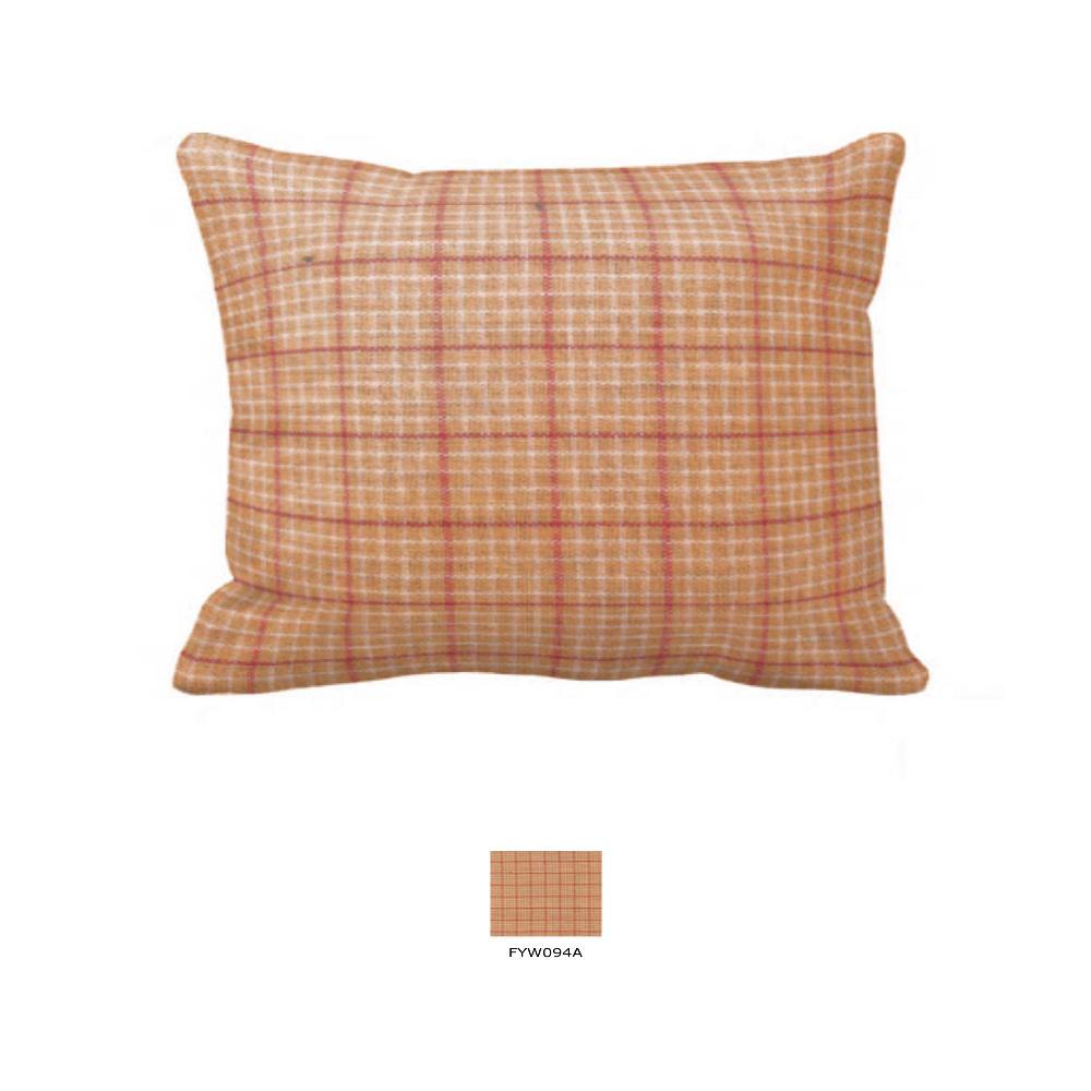 "Golden Rod Plaid Pillow Sham 27""W x 21""L"