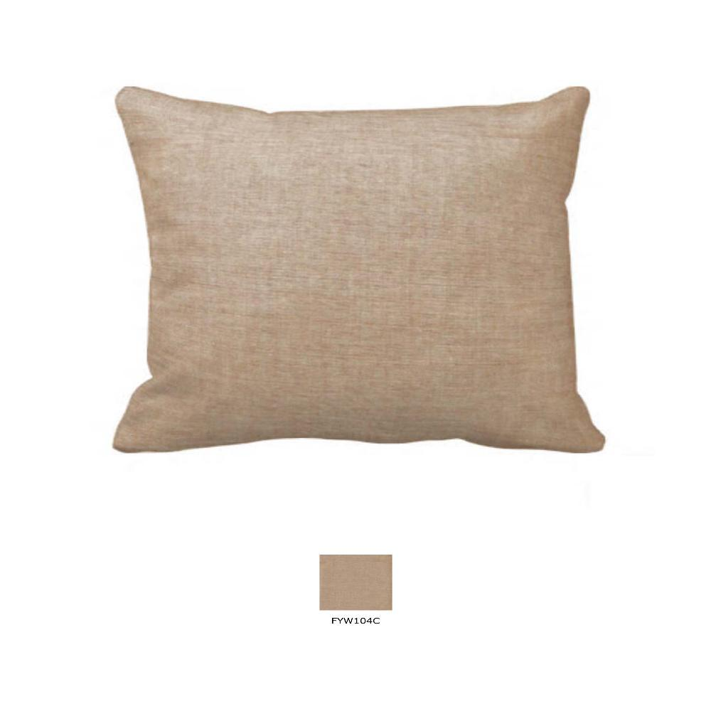 "Gold Chambray Pillow Sham 27""W x 21""L"