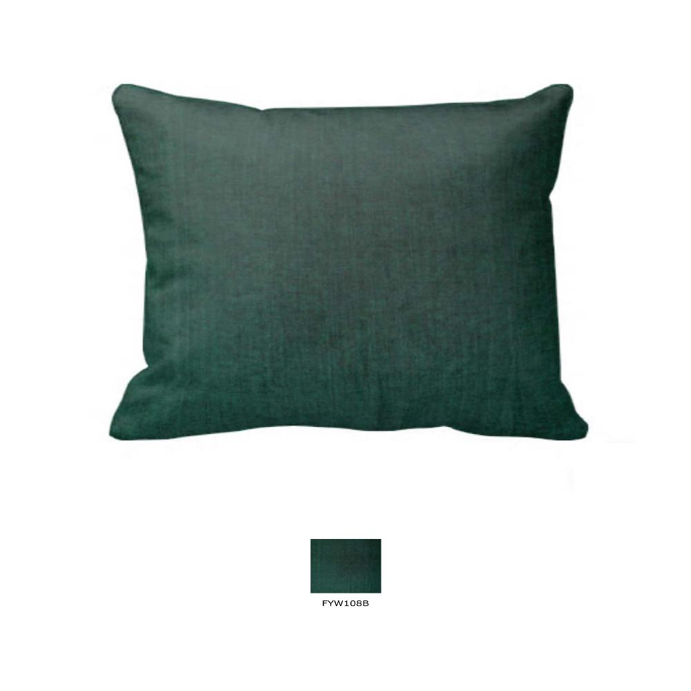 "Hunter Green Chambray Pillow Sham 27""W x 21""L"