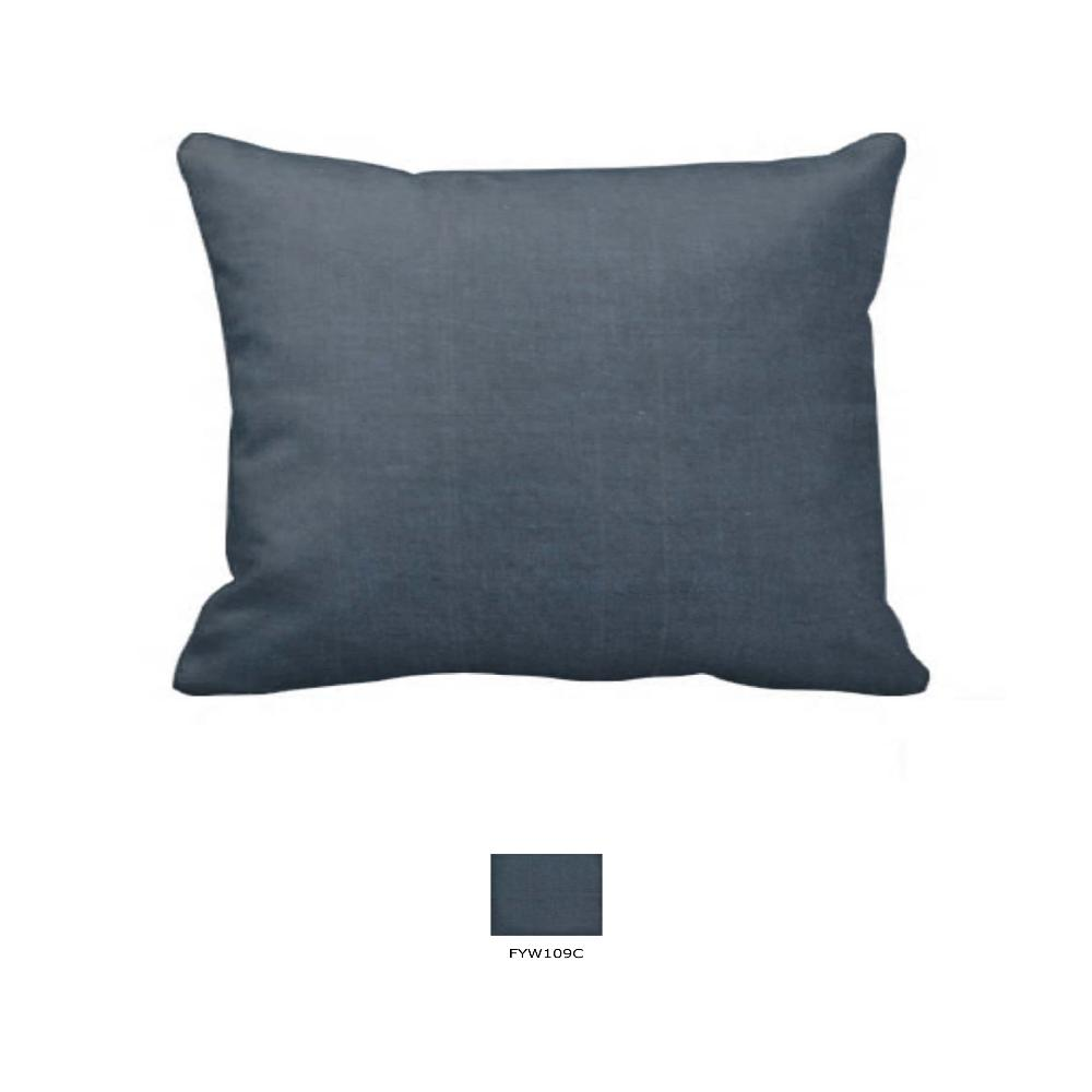 "Dark Spruce Blue Chambray Pillow Sham 27""W x 21""L"