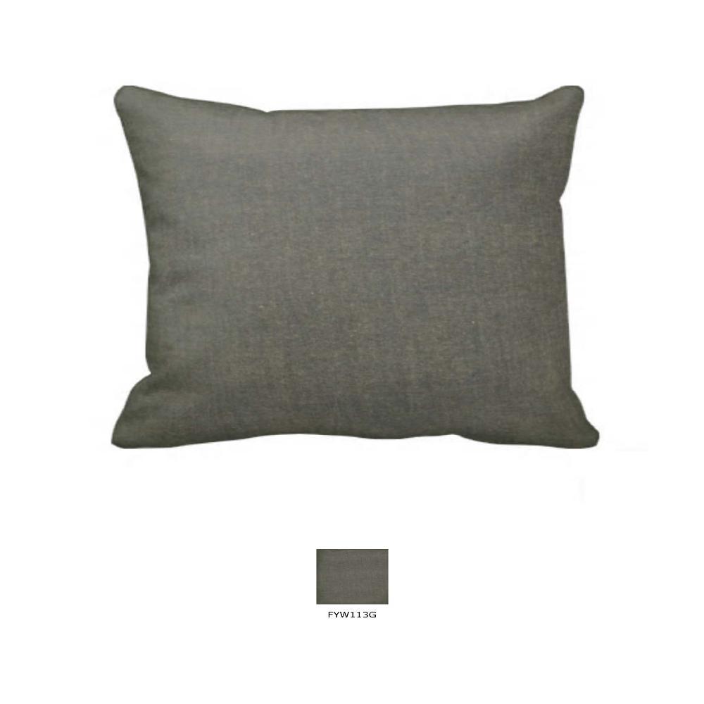 """Sage Green Chambray Pillow Sham 27""""W x 21""""L"""