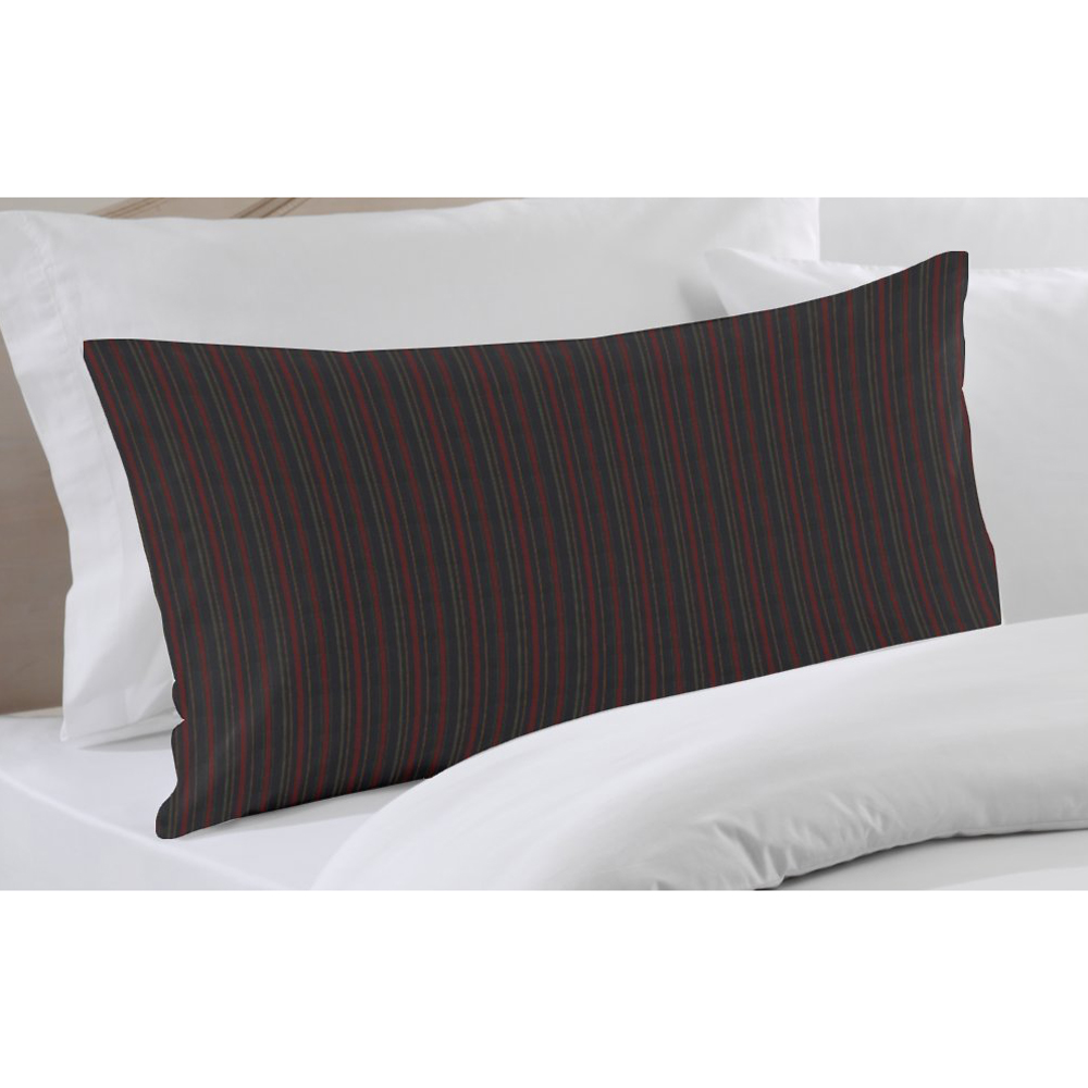 "Black and Maroon Stripe Pillow Sham 27""W x 21""L"