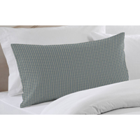 "Light Blue Pin Check Pillow Sham 27""W x 21""L"