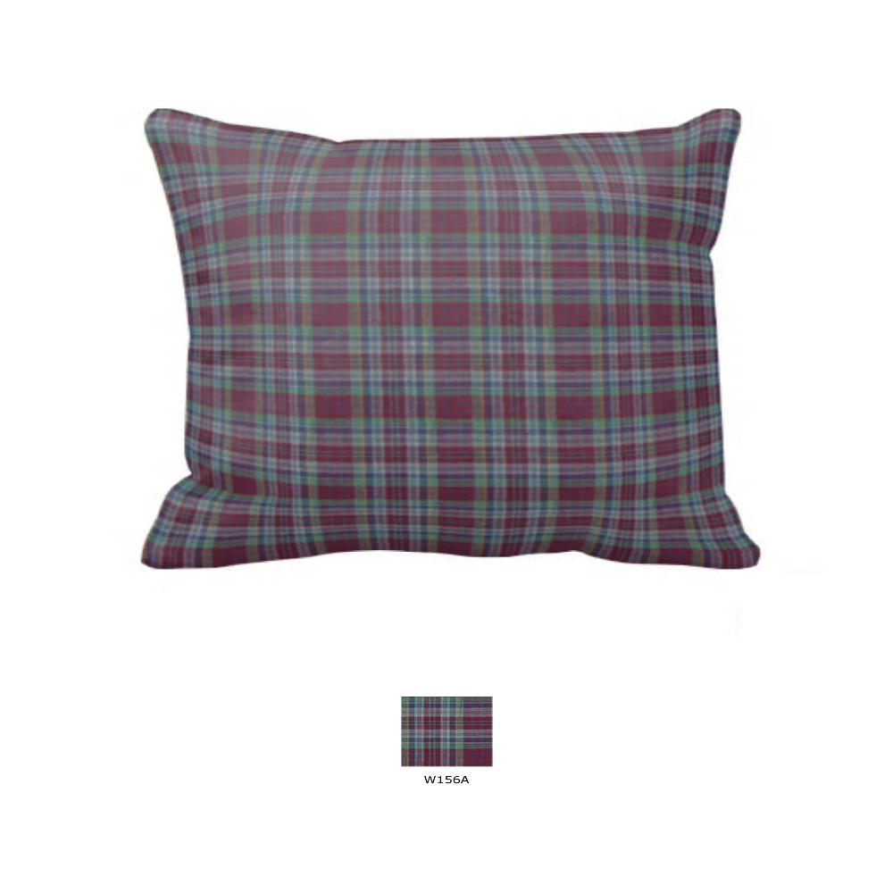 "Burgundy Plaid Pillow Sham 27""W x 21""L"