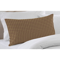 "Tan and Red Check Plaid pillow sham 27""x 21"""