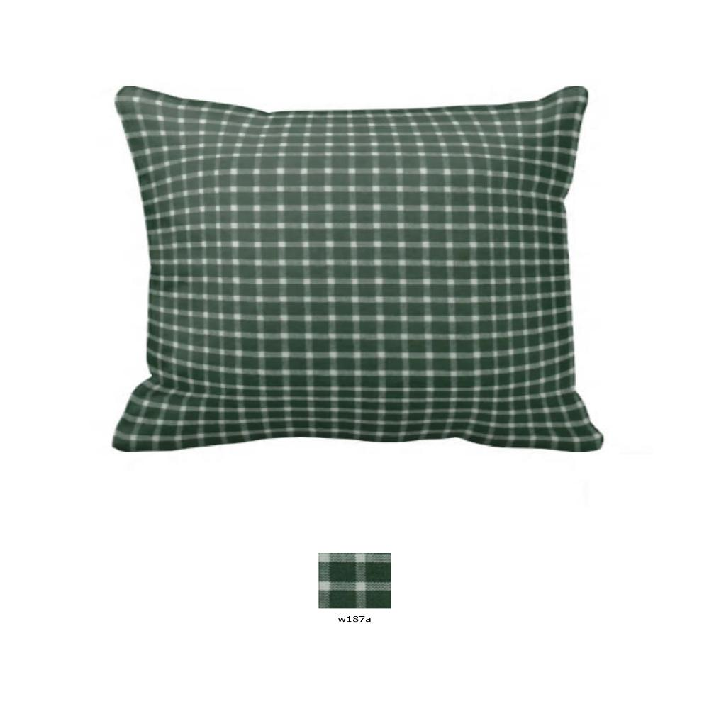 "Homespun Green Check Pillow Sham 27""W x 21""L"