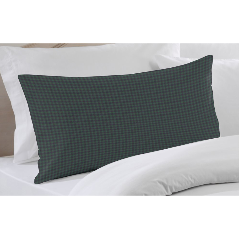 "Green and Blue Gingam Pillow Sham 27""W x 21""L"