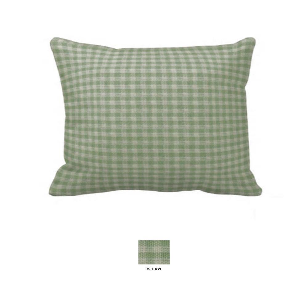 """Mint Green Gingham Pillow Sham 27""""W x 21""""L"""