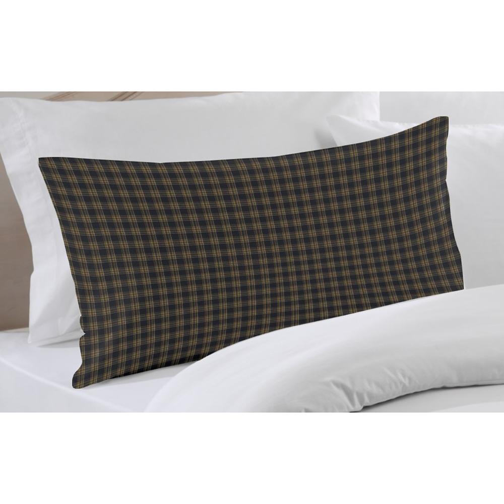 "Dark Navy Blue Plaid Pillow Sham 27""W x 21""L"