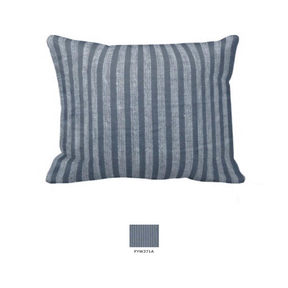 """Dark and Light Blue Pencil Stripe Pillow Sham 27""""W x 21""""L"""