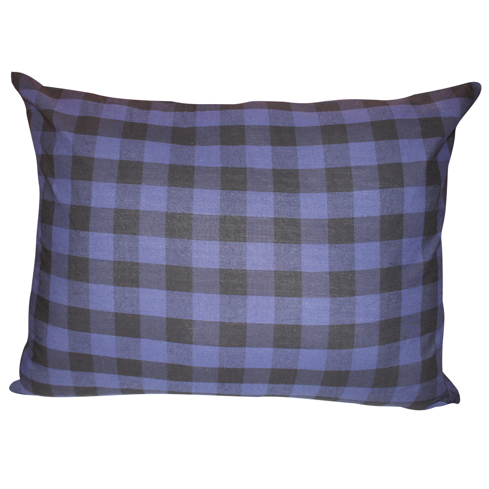 "Blue and Black Twill Buffalo Check,fabric pillow shams 21""x27"", standard"