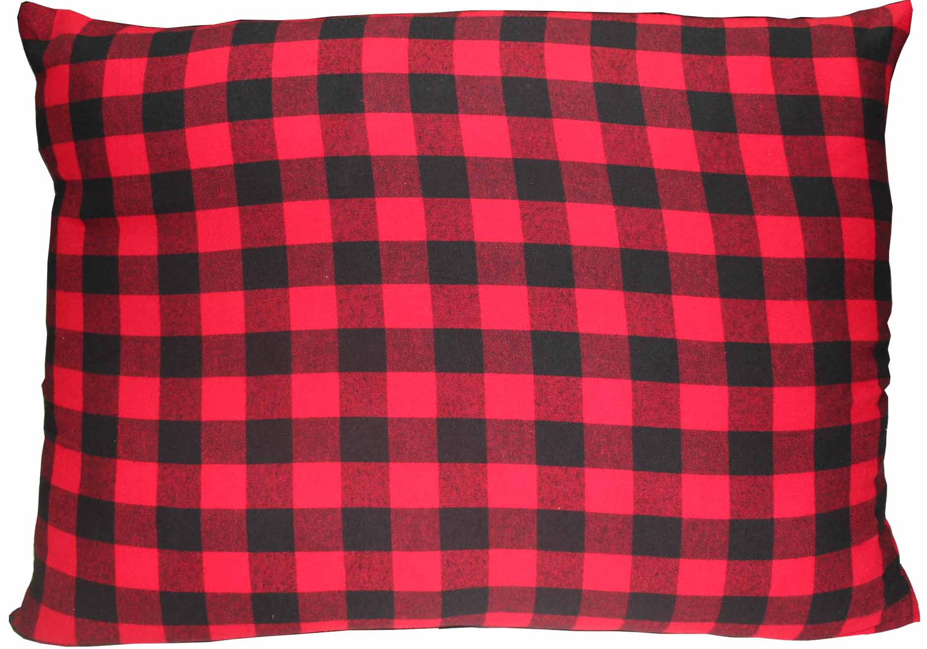 "Red and Black Twill Buffalo Check Fabric Pillow Shams 21""x27"" Standard"