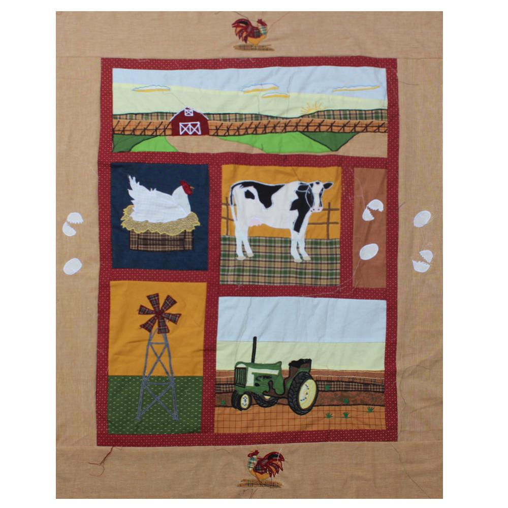 "Barnyard Animals Crib Quilt 36""W x 46""L"