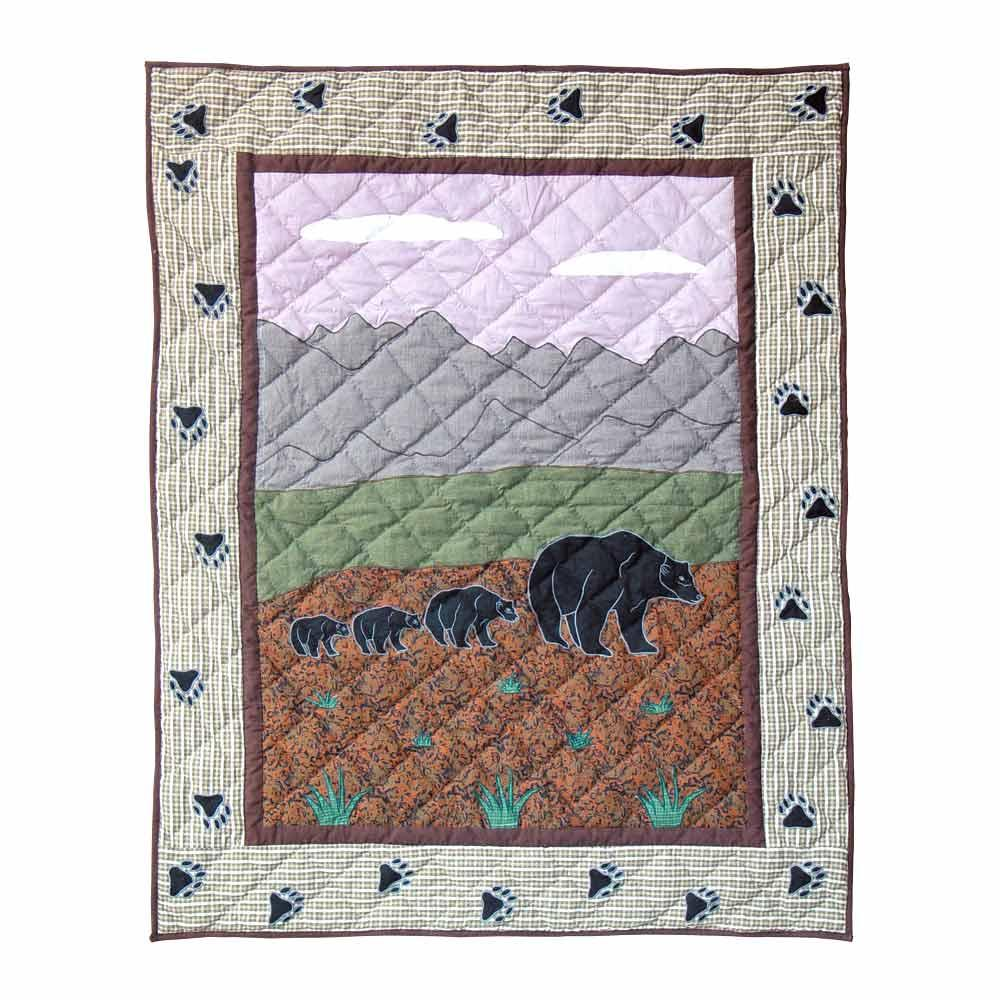 "Bear Country Crib Quilt 36""W x 46""L"