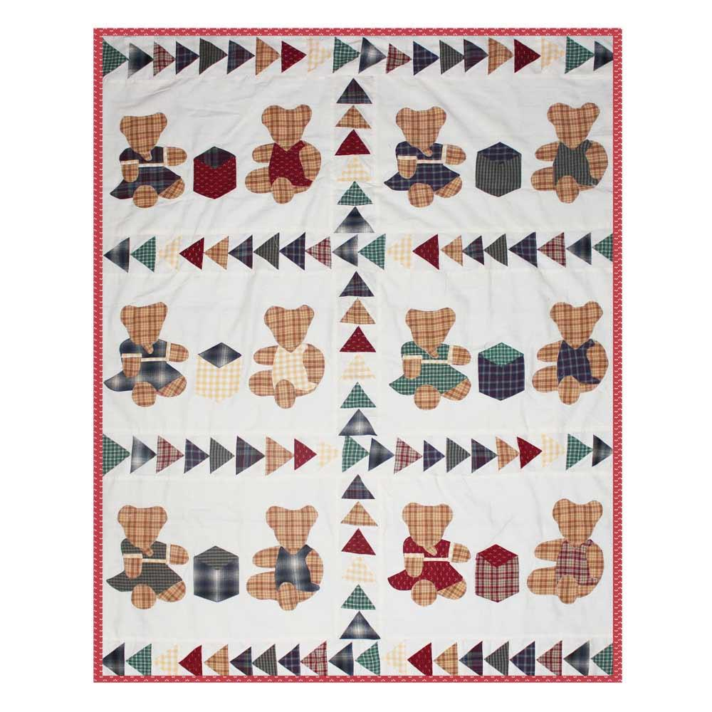 "Brown Bear Crib Quilt 36""W x 46""L"