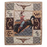 "Brand Western Crib Quilt 36""W x 46""L"